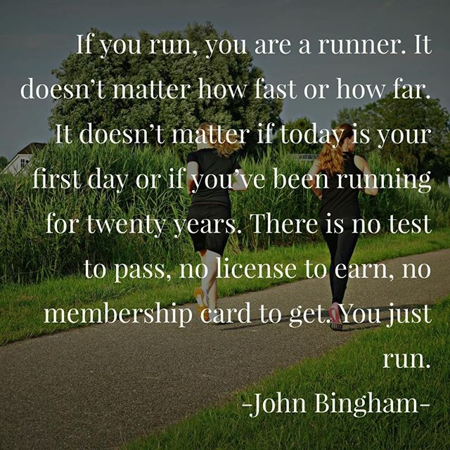 12in12 If you run, you are a runner. It doesn't matter how fast or how far. It doesn't matter if today is your first day or if you've been running for twenty years. There is no test to pass, no license to earn, no membership card to get. You just run. John Bingham  #runningchallenge #runningisfun #12in12 #12in12months #londonmarathon #runnersofinstagram #runstreak #runfree #runnersworld