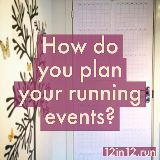 12in12 How do you plan your running events?