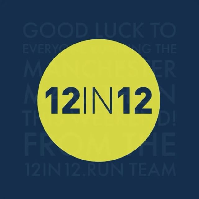 12in12 Good luck to everyone running the Manchester Marathon this weekend! From the 12in12.run team
