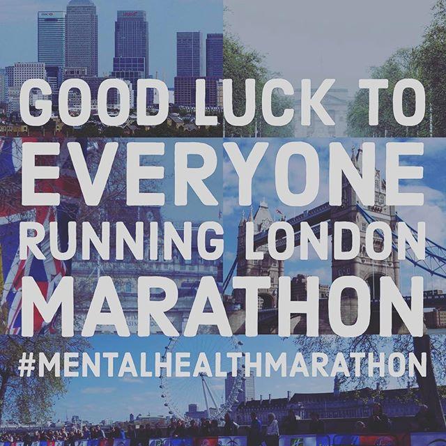 12in12 Good luck to everyone running London Marathon #MentalHealthMarathon