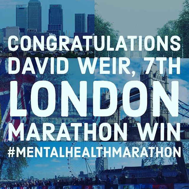 12in12 Congratulations @davidweir2012 7th London Marathon win #MentalHealthMarathon