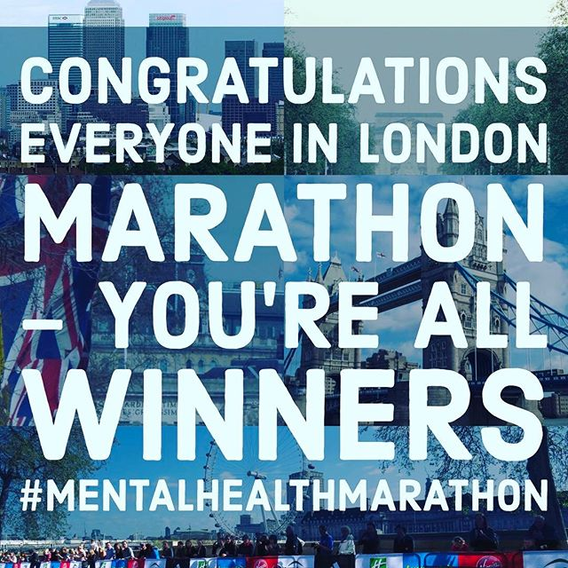 12in12 Congratulations everyone in London Marathon - you're all winners #MentalHealthMarathon