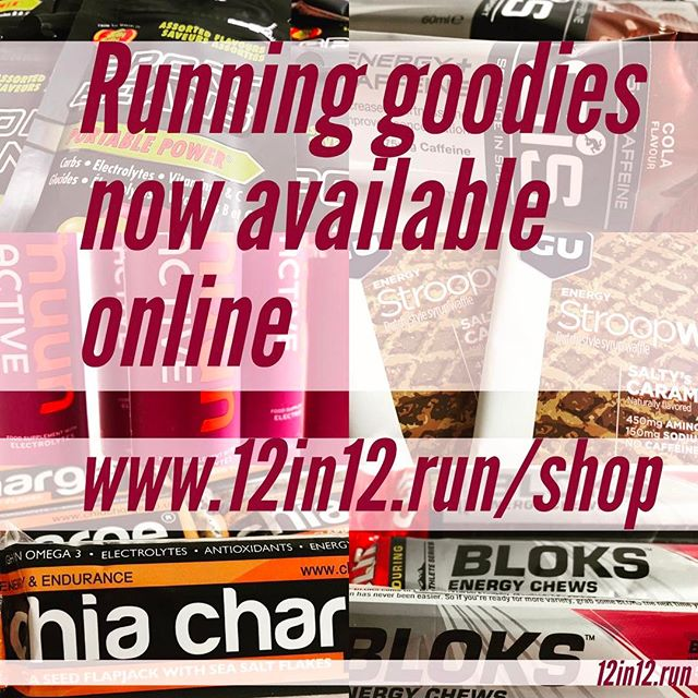 12in12 Running goodies now available to buy online - see link in bio and head to Goodies