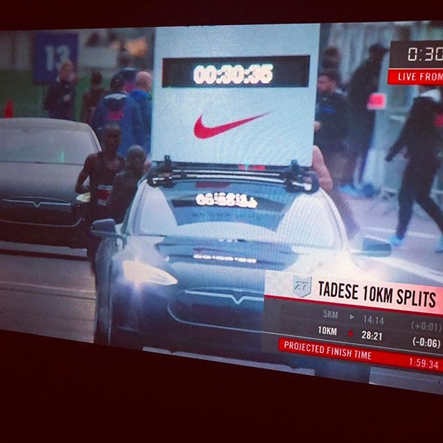 12in12 Anyone watching? 30mins in and on track! #breaking2 https://twitter.com/i/live/847926495850840064