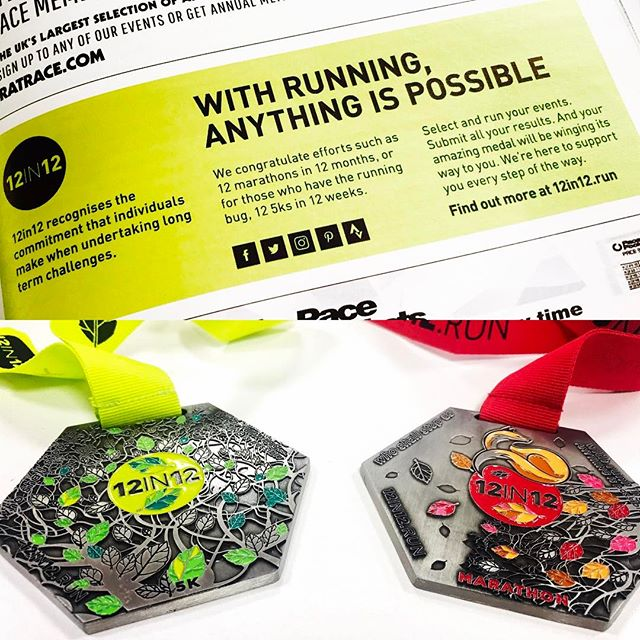 12in12 Loving our latest Ad in RunABC, and now the first batch of medals