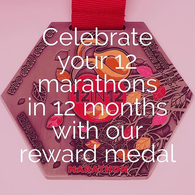 12in12 Celebrate your 12 marathons in 12 months with our reward medal for £39