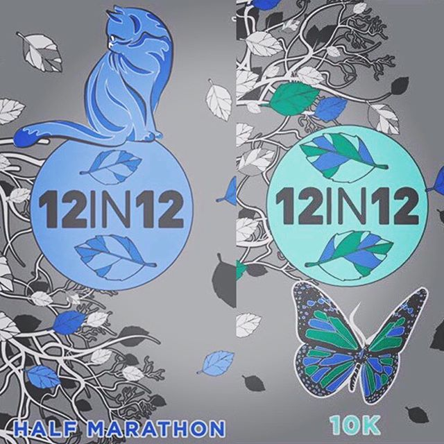 12in12 10k and half marathon medal challenges are now available to set #12in12 www.12in12.run