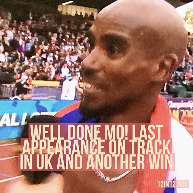 12in12 Well done Mo! Last appearance on track in UK and another win #motime