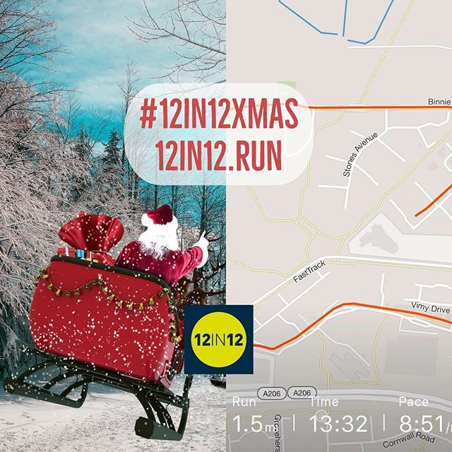12in12 Who has been lucky enough to spot Santa whilst out running? #12in12xmas