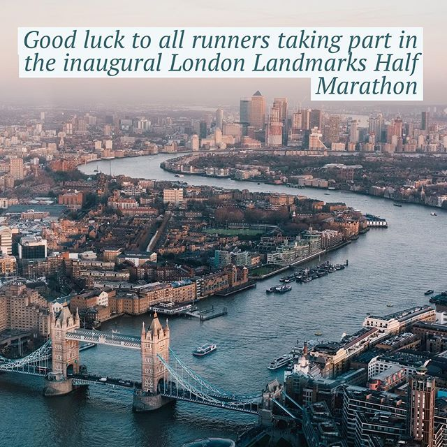 12in12 Good luck to all runners taking part in the inaugural London Landmarks Half Marathon #londonlandmarkshalfmarathon