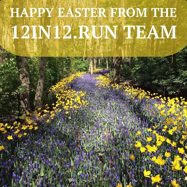 12in12 Happy Easter from the  12in12.run team